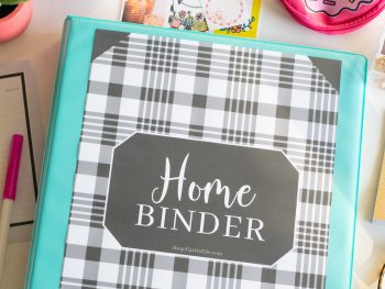 Printable Black and White Home Organization Binder