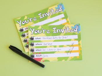 Paintball Party Invites