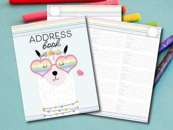 8.5x11 Address Book shop.carrieelle.com
