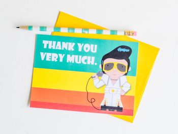 Elvis Thank You Cards