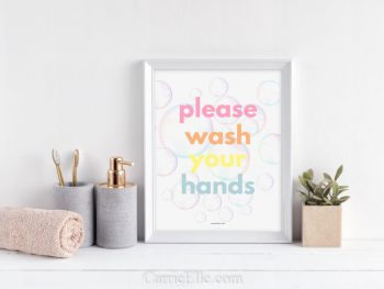 Wash Your Hands Colorful Printable